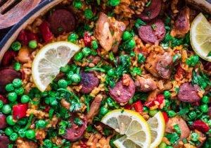 paella met vlees bestelling plaatsen