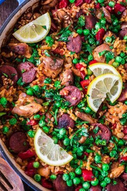 paella traiteur - paella vlees