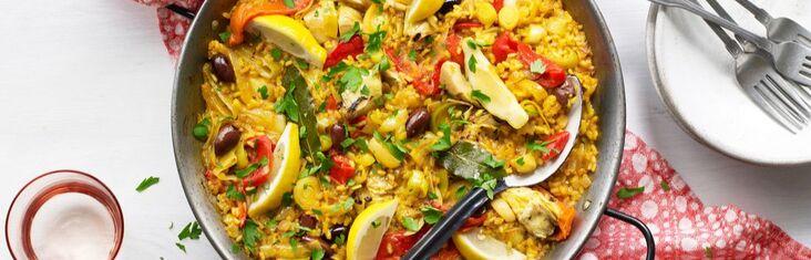 vegetarische paella traiteur