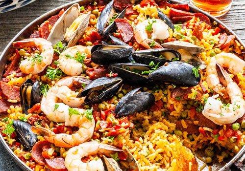 paella met vis - catering verjaardag
